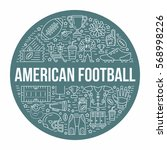 american football banner with... | Shutterstock .eps vector #568998226
