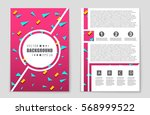 abstract vector layout... | Shutterstock .eps vector #568999522