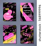 valentine's day greeting cards... | Shutterstock .eps vector #568999996