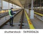 inspector  engineer  checking... | Shutterstock . vector #569000626