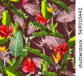 Tropical Jungle Leaves Seamless Pattern - Fine Art prints