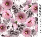 Spring Floral Seamless Flowers Pastel - Fine Art prints