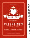 happy valentines day party... | Shutterstock .eps vector #569015656