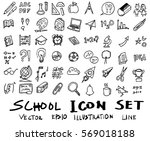 freehand drawing school items . ... | Shutterstock .eps vector #569018188