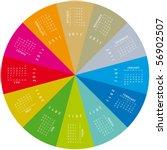 colorful calendar for 2011.... | Shutterstock .eps vector #56902507