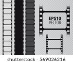 set of vector film strip... | Shutterstock .eps vector #569026216