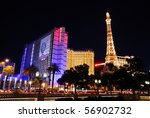 Stock photo las vegas mar paris las vegas hotel and casino featured with the theme of paris in france on 56902732