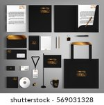 black corporate identity... | Shutterstock .eps vector #569031328