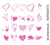 heart mark icon. | Shutterstock .eps vector #569036572