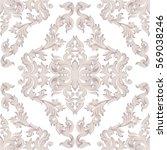 vintage baroque damask floral... | Shutterstock .eps vector #569038246