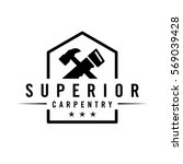 carpentry logo | Shutterstock .eps vector #569039428