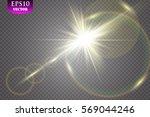 vector transparent sunlight... | Shutterstock .eps vector #569044246