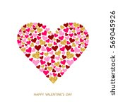 happy valentines day greeting...   Shutterstock .eps vector #569045926