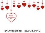 valentines day vector hanging... | Shutterstock .eps vector #569052442