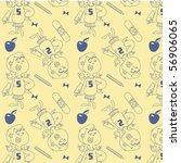nerd girl vector seamless | Shutterstock .eps vector #56906065