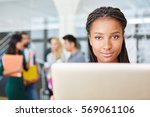 african woman working as... | Shutterstock . vector #569061106
