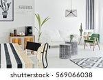 white flat with modern nordic... | Shutterstock . vector #569066038