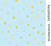 seamless pattern with stars | Shutterstock .eps vector #569069596