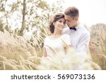 just married husband and wife... | Shutterstock . vector #569073136