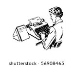 typist   retro clip art | Shutterstock .eps vector #56908465