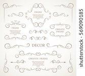 vector set of decorative... | Shutterstock .eps vector #569090185