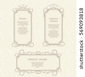 vector set of decorative... | Shutterstock .eps vector #569093818