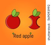 apples. red apples. vector...