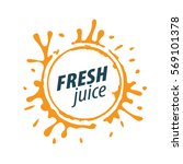 juice splash vector sign | Shutterstock .eps vector #569101378