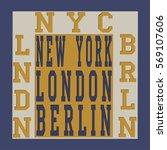 new york berlin london... | Shutterstock .eps vector #569107606