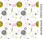 seamless geometric pattern in...   Shutterstock .eps vector #569114212
