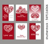 greeting card with heart for... | Shutterstock .eps vector #569116066