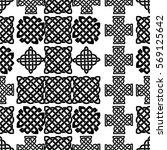 celtic knot seamless pattern | Shutterstock .eps vector #569125642