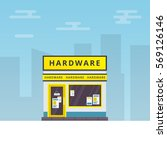vector illustration of hardware ... | Shutterstock .eps vector #569126146