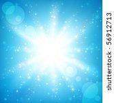 sun on a blue sky. vector... | Shutterstock .eps vector #56912713