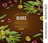 Natural Olives Background With...