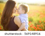 young mother with little baby... | Shutterstock . vector #569148916