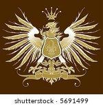 vintage heraldic emblem   eagle ... | Shutterstock .eps vector #5691499
