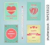 valentine's day vector... | Shutterstock .eps vector #569153122