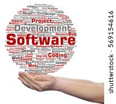 concept or conceptual software... | Shutterstock . vector #569154616