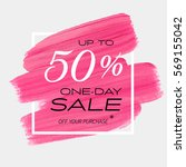 one day sale up to 50  off sign ... | Shutterstock .eps vector #569155042