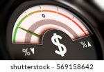 3d illustration of a dial with... | Shutterstock . vector #569158642