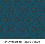 ornamental seamless pattern.... | Shutterstock .eps vector #569164606