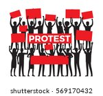protest by group of protester... | Shutterstock .eps vector #569170432