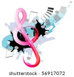 treble clef | Shutterstock .eps vector #56917072