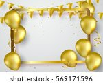 celebration party banner with... | Shutterstock .eps vector #569171596