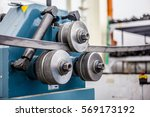pipe bending machine in the... | Shutterstock . vector #569173192