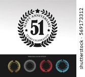 black laurel wreath anniversary.... | Shutterstock .eps vector #569173312