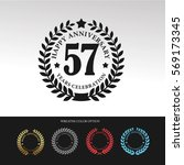 black laurel wreath anniversary.... | Shutterstock .eps vector #569173345