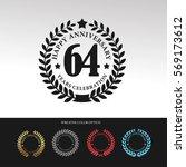 black laurel wreath anniversary.... | Shutterstock .eps vector #569173612