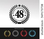 black laurel wreath anniversary.... | Shutterstock .eps vector #569173738